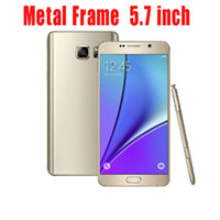metal - HDC Note Golden Metal Frame inch P HD Screen Android Show Octa Core G LTE Cellphone with Eye gesture