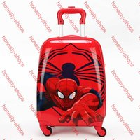 Wholesale 2015 Children Backpacks Pull Rod Bags Travel Thermal Bag Kid Cartoon Box Outdoor School Bags with Wheels