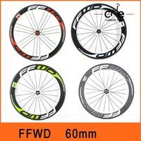 Wholesale FFWD Color Full Carbon Fiber Wheels Carbon c mm Road Bike Wheels Racing Road Cycling Wheelset Novatec Hub BW001