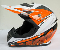 Wholesale Newest KTM Helmet Professional Motor Cross Helmet DOT Approved Motorcycle Helmet Motocross helmet White orange ABS helme
