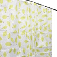 Wholesale 71x71 quot Waterproof Bathroom Bath Shower Curtain New Veil Screen Green Leaf Leaves Polyester Fabric