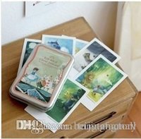 Wholesale Indigo illust mini tin Alice Daddy Long Legs Pinocchio card postcard sheets set Christmas Card Greeting Card A5