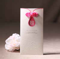 Wholesale 2016 Wedding Cards Fold New Flower Pattern Wedding Invitations Cards Free Printing Laser Cutting P