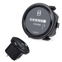 Wholesale Auto Mechanical Hour Meter Gauge Timer Hourmeter DC V for Cars Vehicles Trackers