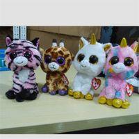 beanie boo cats - Anime Club Ty Beanie Boos big eyes plush toys Pepper the Cat Husky Penguin big eyes plush dollbirthday gift
