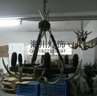 antler chandeliers - Zhongshan lighting factory direct hotel restaurant new European decorative antler lights antlers chandelier