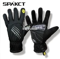 XS finger bmx bike - SPAKCT Winter Warm Men Skull SRG Silicone Gel Paded Road MTB BMX Bike Bicycle Cycling Cycle Wear Full Long Finger Gloves Color