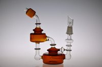 bear glass jar - Bear Moutain Studios Honey Jar Recycler Oil rigs Glass water pipes with inline perc mm joint