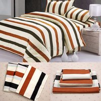 Wholesale Duvet Cover Pillow Case Quilt Cover Bed Set Double King Size Stripe Luxury NEW