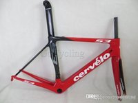 Wholesale Carbon road frame New S3 carbon road bike frame in white red frameset includes frame Fork Seatpost Headset clamp ID2 compatible
