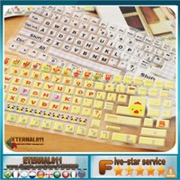 Wholesale Fashion Sweet Pink Hello Kitty Computer Keyboard Stickers Computer Decoration DIY Stuff Keyboard Covers Computer Sticker