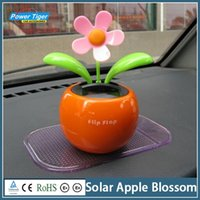 Red automatic climate control - Solar Apple Blossom Auto Accessories Car Furnishing Articles Solar Automatic Swing Sunflower Car Ornament