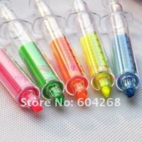 Wholesale 1000pcs Hotsale COLORS New Syringe Highlight Pen Fashion pen