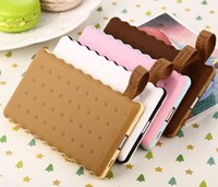chinese food - Cute cookie food Power Bank mah polymer Portable Charger battery external powerbank backup charging For your mobile phone