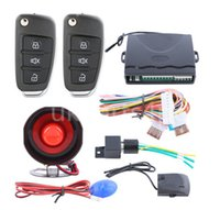 Wholesale Quality universal car alarm system way with flip key remote control central door locking keyless entry anti theft