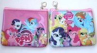 Wholesale Hot Cute My Little Pony CARTOON Zip Coin Purse childrens designs party bags NEW