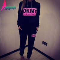 clothing new york - New women brand fashion tracksuit sportwear new york letters printed pullover hoody sweatshirt Pants women clothing set new arrive