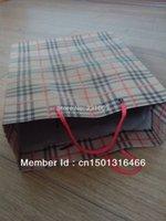 Cheap 8cm*20cm*25cm paper bag with handle