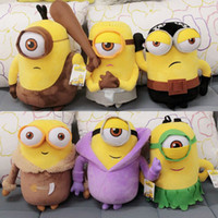 baby vampires - 6pcs New Minions Cosplay Vampire Primitive Pirate Model D Movie TV Plush Baby Toy Minion Christmas Birthday Gift