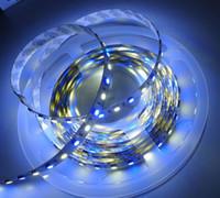 Wholesale 2015 New M SMD RGB White LED Strip RGBW RGBWW Flex LED Light strips M LEDS Waterproof Tube Silica V DC Christmas Holiday lights