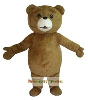 bear ted costume - New Ted Costume Teddy Bear Mascot Costume Free Shpping