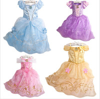 Wholesale Kids Clothes Spring Summer Kids Dress Girls Butterfly Dresses Blue Princess Girl Party Dresses Lace dress Cosplay Costume for Girls