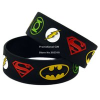 Wholesale New Justice League Superman Batman Green Lantern The flash Wristband Silicon Bracelet