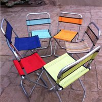 Wholesale 23 cm Fashion Outdoor Portable Folding Chair Camping Backrest Fishing Stool Outdoor Picnic BBQ Beach Chair Seat