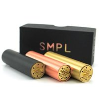 mech mod SMPL 2200mAh Authentic SMPL Mod Mech Mod Red Copper SMPL Mechanical Mod Ecig fit for RDA Atomizer 18650 Battery E Cig Mod free DHL