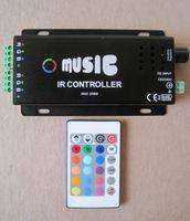 Cheap Wholesale-120W Music IR controller ,12V ,10A,120W ,For RGB led strip or RGB led spot light