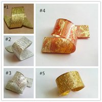 Wholesale Gold Silver Napkin Rings Colors Napkin Rings Weddings Party Home Decoration Factory Supply Fedex