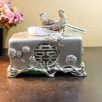Wholesale European high grade resin relief hollow retro luxury home decoration tissue box napkin box pumping carton