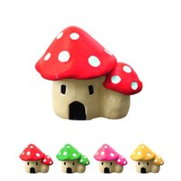 Wholesale Cute Synthetic resin crafts Decorations Miniature Dot Mushrooms Red fairy Christmas Xmas Party Garden Decor Gift
