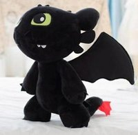 Wholesale How to Train Your Dragon Toothless Night Fury Dragon Plush Toys About cm Height Lifelike Toothless Stuffed Animals Toys Christmas Gift