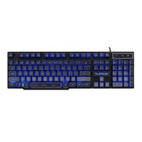 Wholesale Hot RAJFOO Original Mechanical Touch Keyboard Floating Color Backlit Pro Gaming USB Keyboard Multimedia Illuminated LED Wired