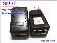 Wholesale 48V A mA POE Power over Ethernet Power Supply US EU Plug lan port Power Injector