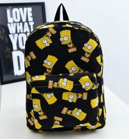 bart phone - Bart Simpson Backpacks Fashion Canvas Backpacks Preppy Style School Backpacks Unisex Schoolbag Back Pack Rucksacks H62