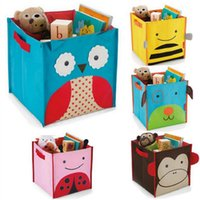 Wholesale Baby Storage Boxes ZOO Storage Bin Canvas Baby Cute Colorful Kids Easy to Grip Handles for Hands Toys