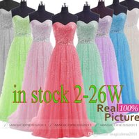 blue prom dresses - 2015 IN STOCK Beaded Prom Evening Gowns Backless A Line Sweetheart White Grey Blue Lilac Green Pink Plus size Long Formal Party Dress
