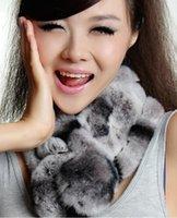 rex rabbit scarf - Hot New Arrived women winter real rex rabbit fur scarf lady casual Fur Scarves Fur velvet Rex Rabbit Scarf High Quality