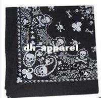 Wholesale Fashion paisley skull head scarf wrap cotton bandana wristband