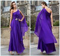 dress one size - 2015 Wedding Dresses Exquisite Prom Dresses Sash Ankle Length Pick ups One Shoulder Beaded Evening Dresses