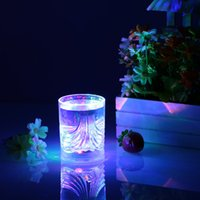 glass mug - 200ml LED Light Up Glass Glowing Flashing Liquid Sensing Multicolor Plastic Tumbler Wine Mug Cup Beer Whisky Party Indoor new L0933