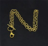 Wholesale 2015 High Quality cm L Stainless Steel Gold O Shaped Chain with Lobster Clasp for Women Necklace L018