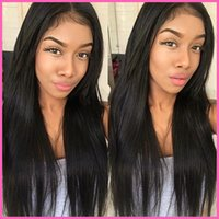 blonde lace front wigs - Natural hairline long straight full lace human hair wigs lace wig with baby hair middle part