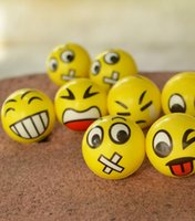 ball fun - New Christmas party FUN Emoji Face Squeeze Balls Stress Relax Emotional Toy Balls Fun Office Holiday Gift Stocking Stuffer Gag Toy