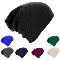 Cheap Hot Sale Women Men Unisex Knitted Winter Cap Casual Beanies Solid Color Hip-hop Snap Slouch Skullies Bonnet beanie Hat Gorro