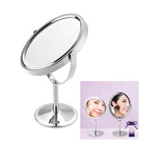 Wholesale MakeUp Mirror inch women Beauty Dual Side Normal Magnifying Oval Stand Mirror Cosmetic Mirror Makeup Tools