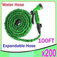 plastic water nozzle - New Expandable Flexible Plastic Hose Water Garden Pipe With Spray Nozzle For Car Wash Pet Bath Original FT ZY SG