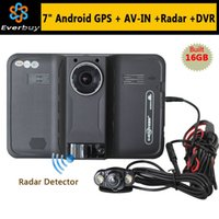 Wholesale New inch Android Car GPS Navigation rear view Radar Detector Car DVR P Truck vehicle gps Navigator AVIN Europe Navitel map A3